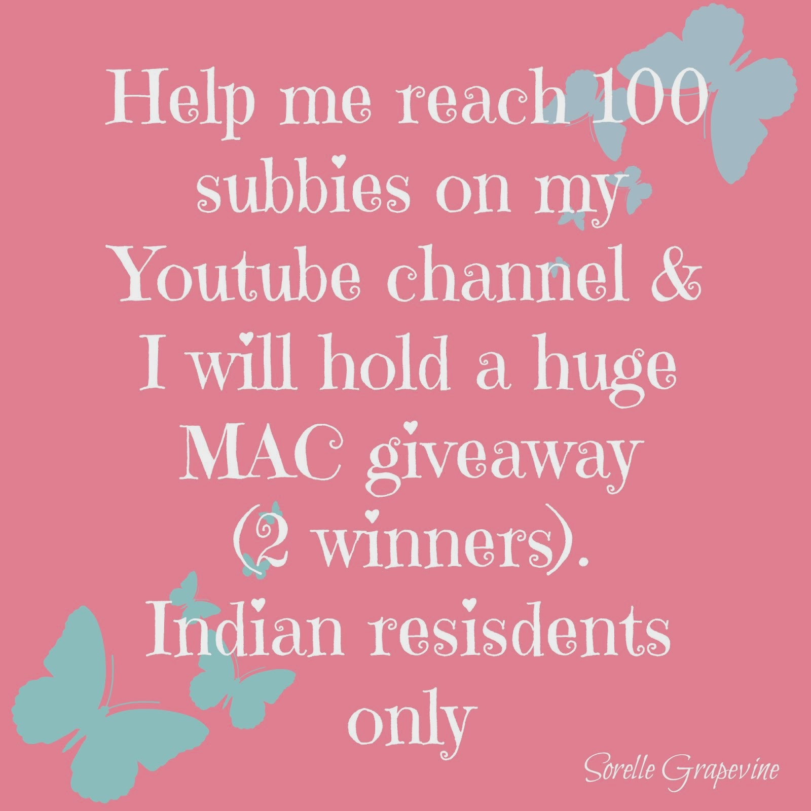 Youtube Subbies Giveaway