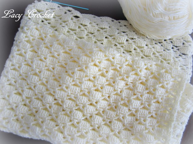 Lacy Crochet New Baby Blanket In Progress Unique Lacy Baby Blanket Crochet Pattern