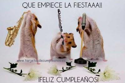 hamsters feliz cumpleaños