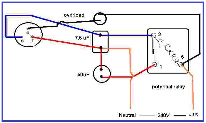 air condition compressor potential relay wiring eee community rh eeecommunity blogspot com Air Compressor Starter Wiring Diagram Air Compressor Starter Wiring Diagram
