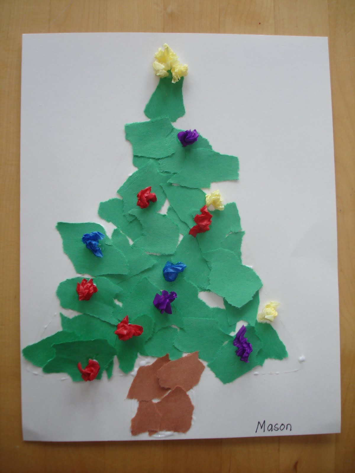How To Make Christmas Tree Ornaments Out Of Construction Paper : Play and learn with dana scrap christmas tree