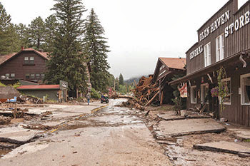 Get Well, Colorado! Glen Haven, Colorado, 2013 Colorado floods www.thebrighterwriter.blogspot.com #ColoradoStrong #EstesPark #coloradofloods #2013coloradofloods #Mountainstrong #Glenhaven