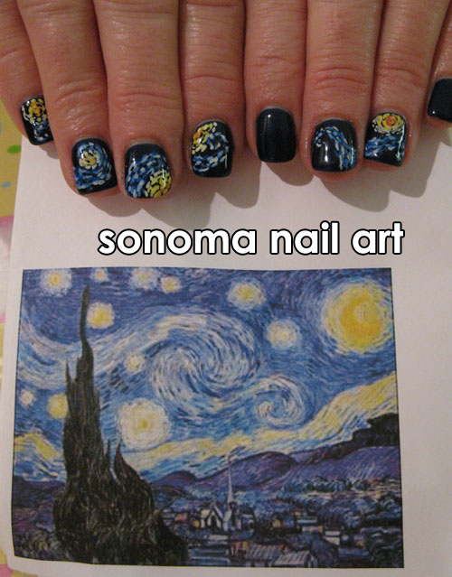 Sonoma Nail Art My First Starry Night Nails