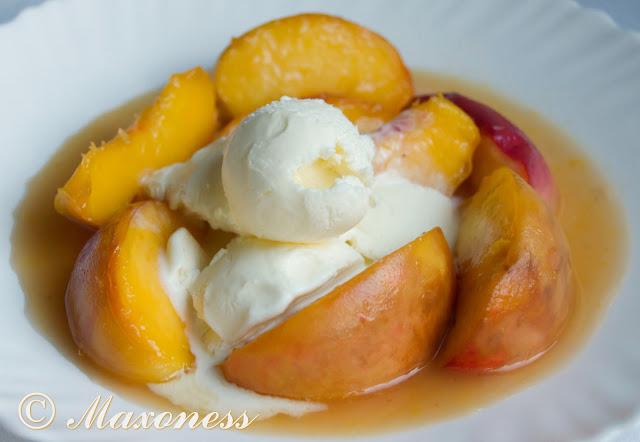 Карамелизованные персики с вин-санто от Гордона Рамзи. Итальянская кухня.
