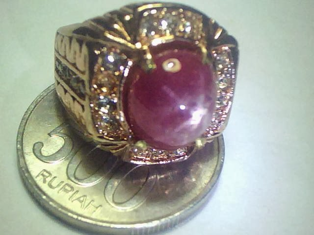 Batu Cincin Ruby Star Burma