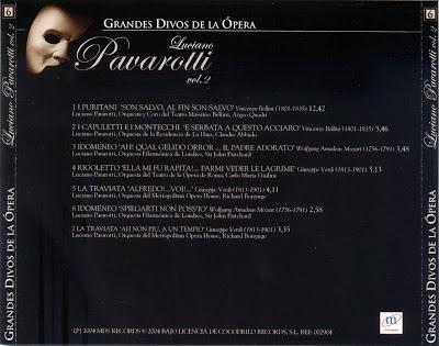 Grandes Divos de la Ópera-cd6-Luciano Pavarotti-carátula trasera