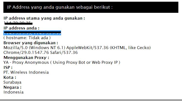 Cara Mengetahui IP Address Milik Sendiri