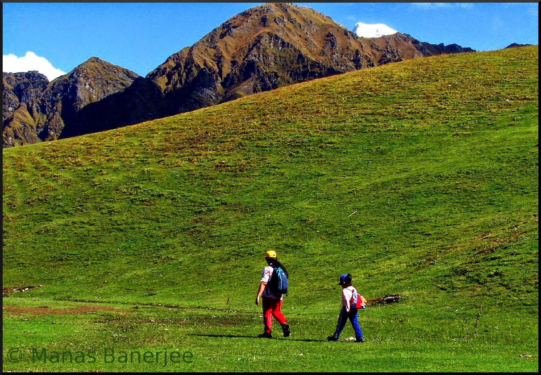 Majestic Snowy Peaks as seen in Roopkund Trek