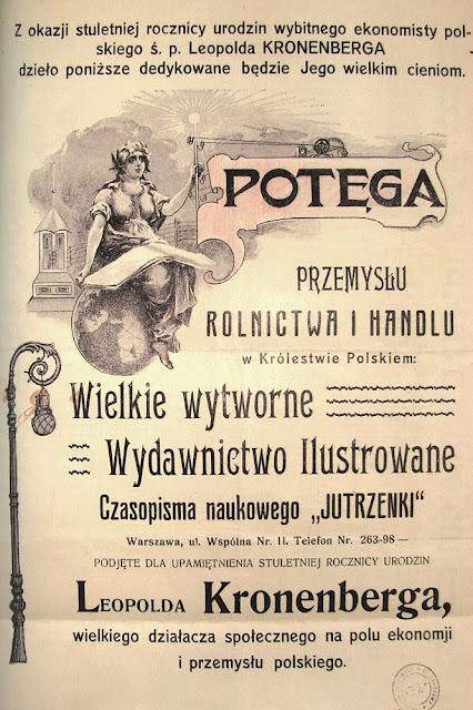 Pamiątkowy plakat z okazji stulecia urodzin Leopolda Kronenberga.