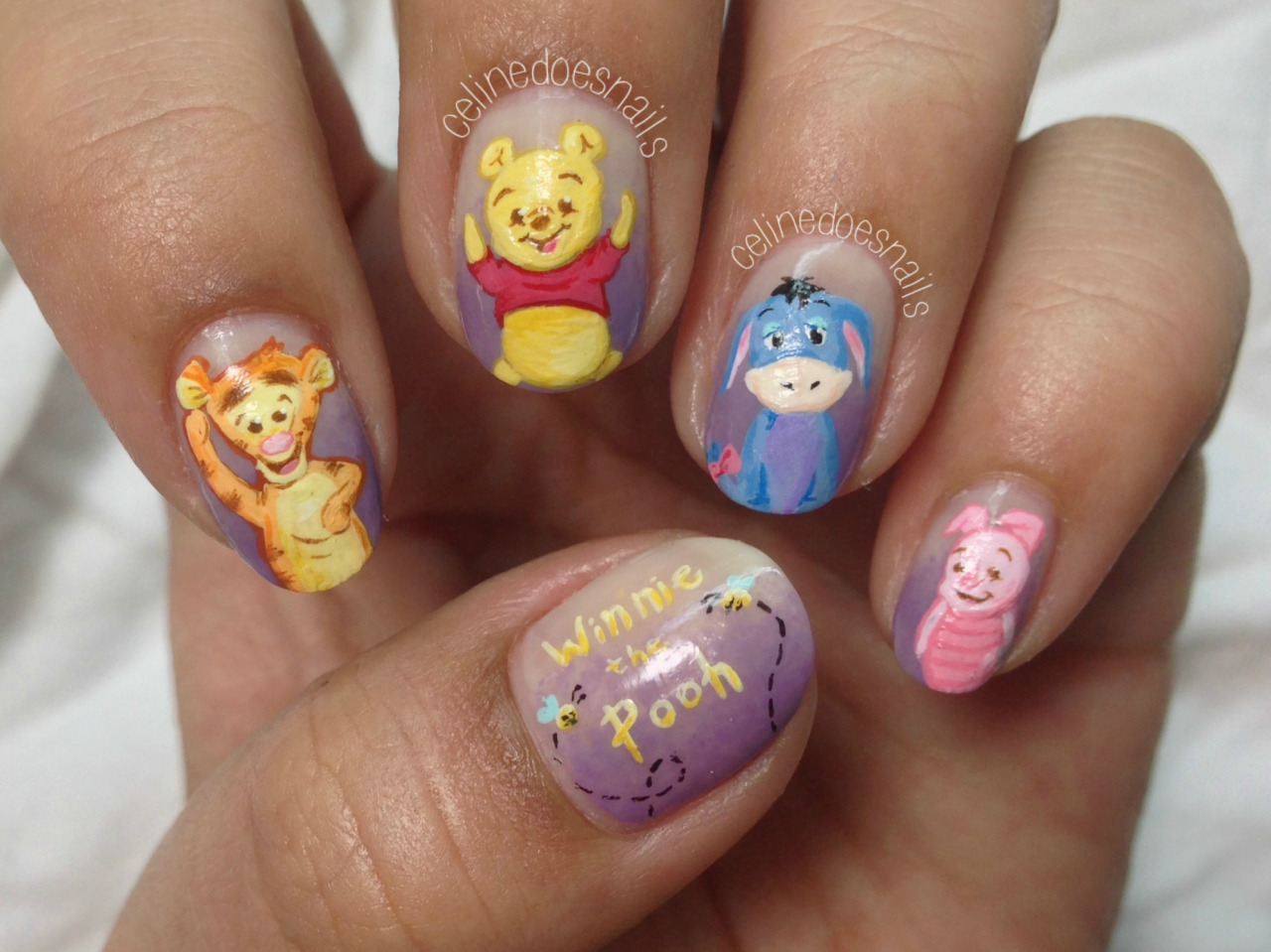 Nails By Celine Winnie The Pooh Nail Art