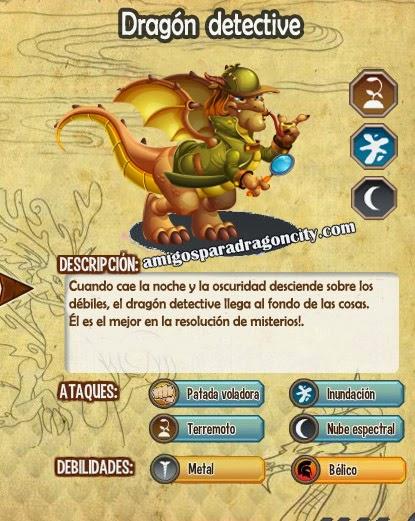 imagen de las caracteristicas del dragon detective