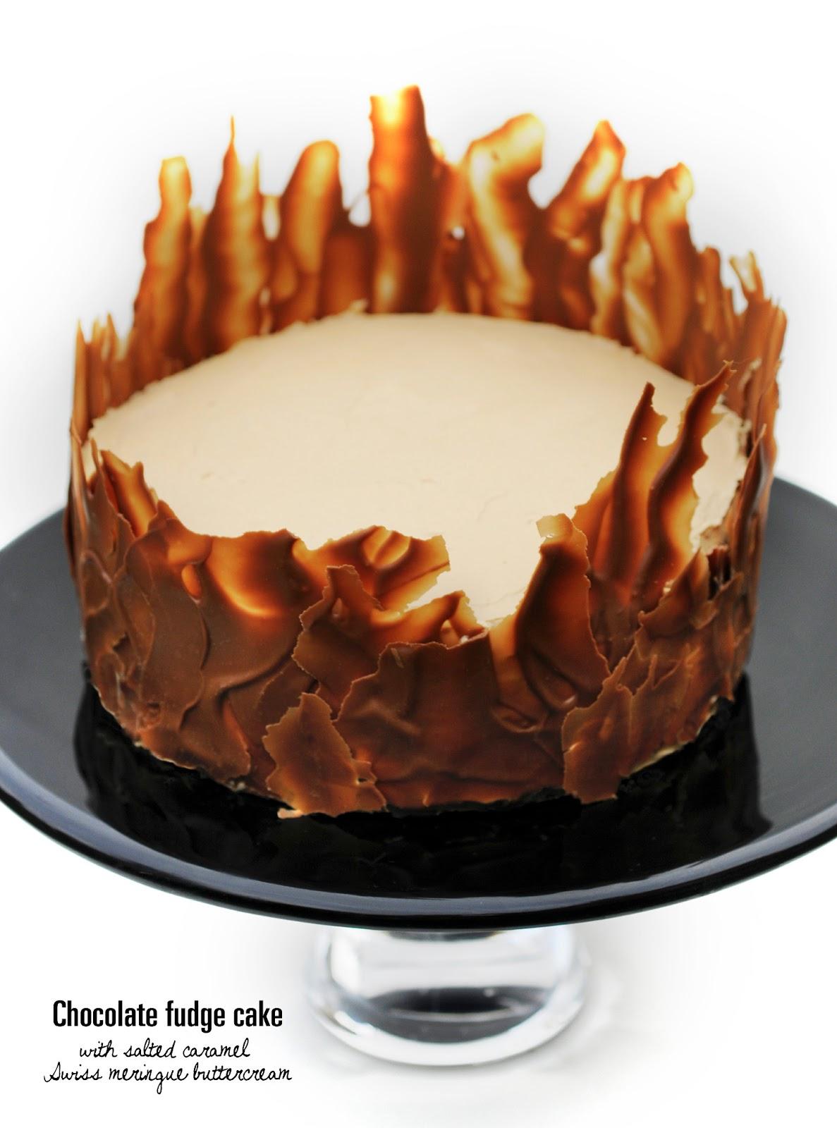 ... with salted caramel Swiss meringue buttercream | supergolden bakes