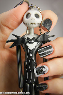 Halloween Nightmare before christmas nail art