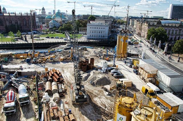 Baustelle Berliner Schloss, Stadtschloss, Schlossplatz, 10178 Berlin, 01.10.2013