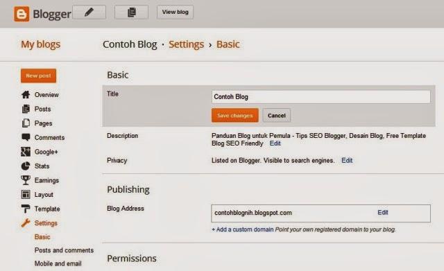Nama dan Deskripsi Blog SEO