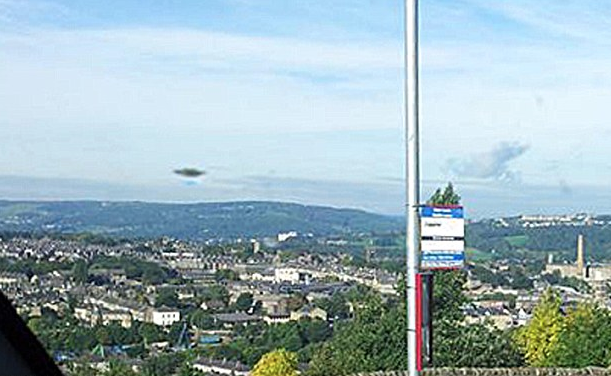 Dark Disc UFO Caught Above West Yorkshire, UFO Sightings