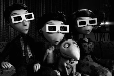 The Frankenstein family in Frankenweenie