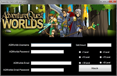 SCREENSHOT OF ADVENTURE QUEST WORLDS AQW CHEATS HACK TOOL 2013