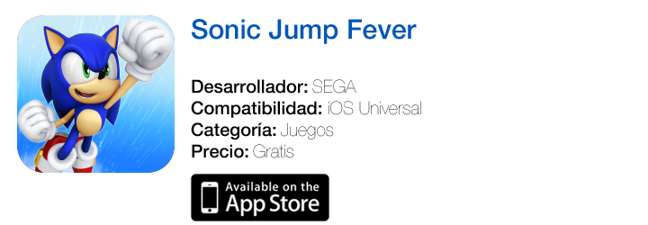 https://itunes.apple.com/es/app/sonic-jump-fever/id794528112?mt=8