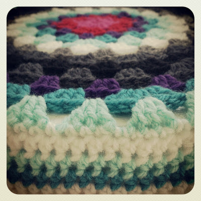 ByHaafner, crochet, granny circle, crochet cover