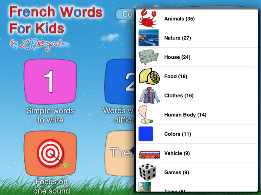 Worksheets At Words For Kids french apps for kids words montessori montessori
