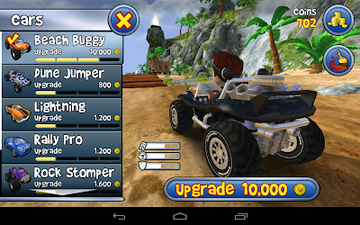 Beach buggy blitz the racing game: The vehicle options