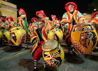 Tambores, carnaval Uruguay