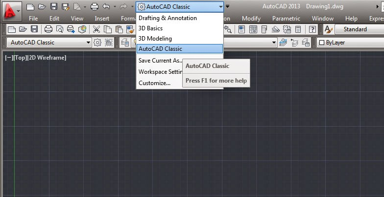 AutoCAD Classic Workspace