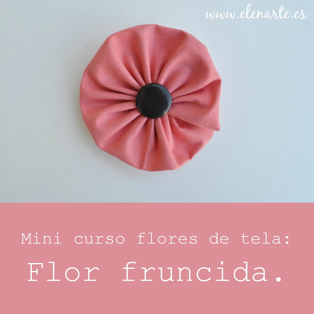 Mini curso flores de tela flor fruncida