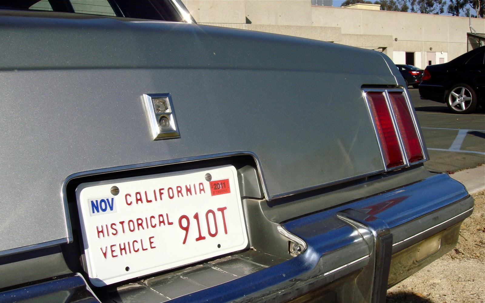 1985 Oldsmobile Cutlass Supreme License plate car tag 85 Olds