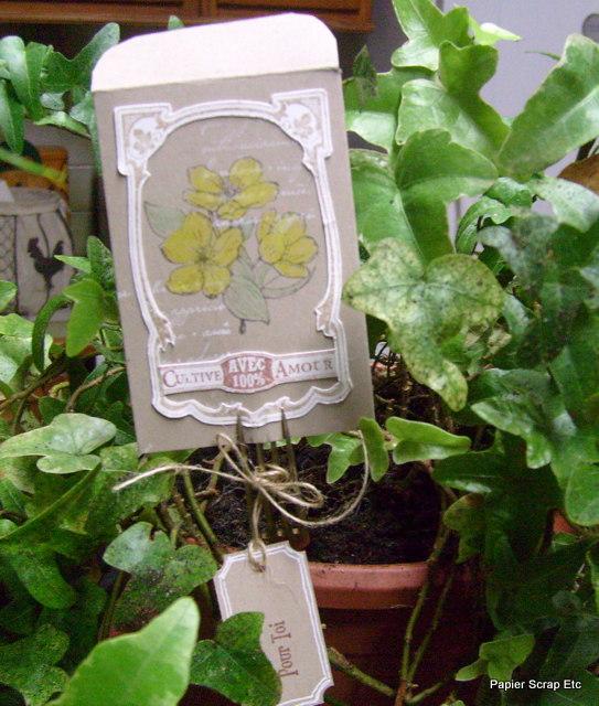 papierscrapetc un tag en d coration pour une plante offrir. Black Bedroom Furniture Sets. Home Design Ideas