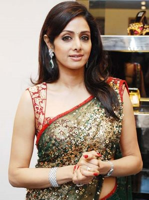 Actress Sridevi in Saree Photos