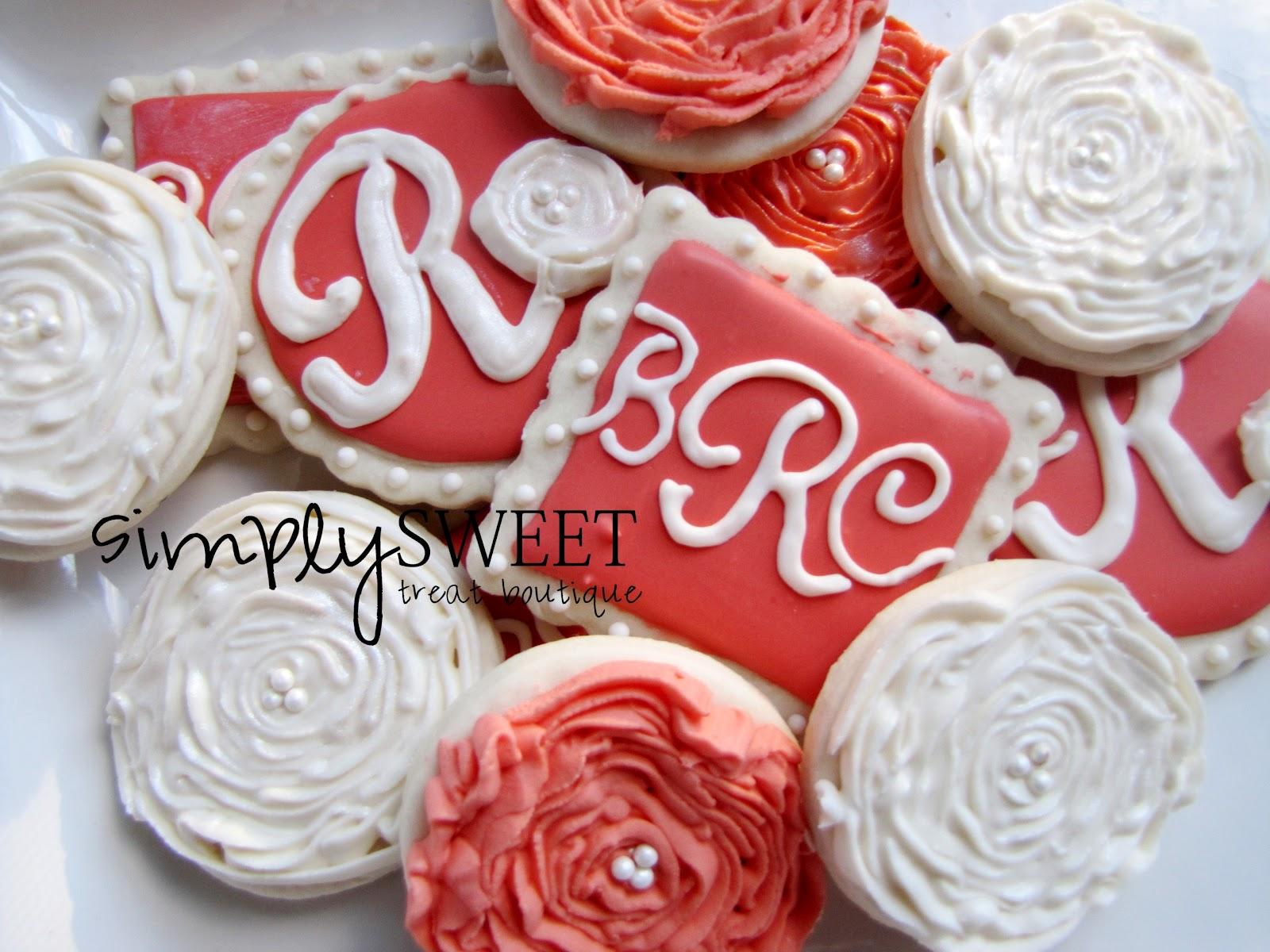 SimplySweet Treat Boutique: Wedding Monogram Cookies