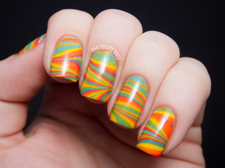 Citrus Water Marble - Zoya Stunning Nail Art