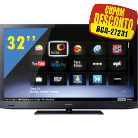 Cupom Efácil - TV 32 3D LED Sony Bravia Full HD KDL-32EX725