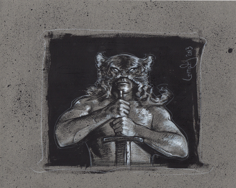 Dark Wolf, Frazetta Tribute, Artwork is Copyright © 2014 Jeff Lafferty