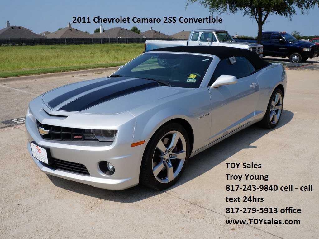 2011 chevrolet camaro 2ss convertible 30988 granbury. Black Bedroom Furniture Sets. Home Design Ideas