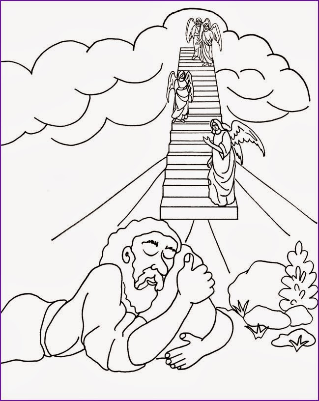 jacob bible coloring pages - photo#4