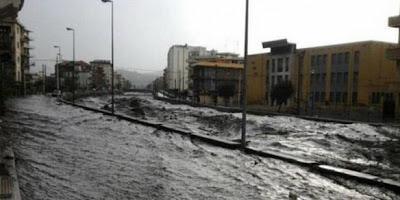 Inundaciones por intensas lluvias en Italia