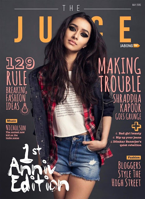 Shraddha Kapoor Poses for Fashion Magazine The Juice