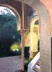 """Pinceladas arquitectónicas"". Sala Averroes."