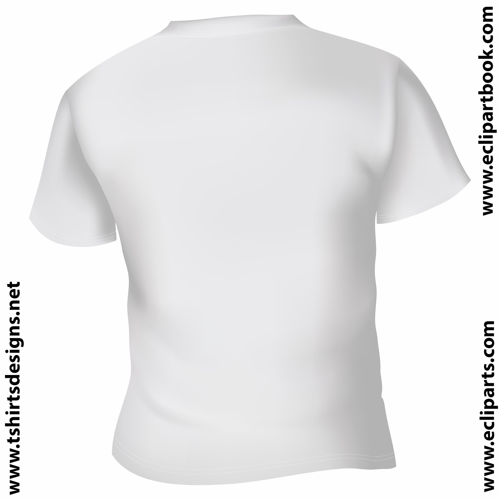 White T-Shirt Front and Back