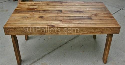 Easy To Make Pallet Wood Dining Table Pallet Furniture : pallet wood dining table1 from pallet-furniture.blogspot.com size 500 x 263 jpeg 25kB