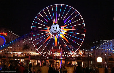 Paradise Pier Disney California Adventure Mickey's night Screamin