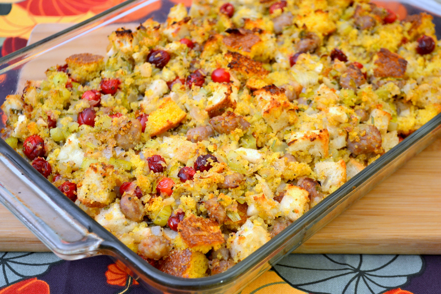 Cornbread, Sausage, and Cranberry Stuffing