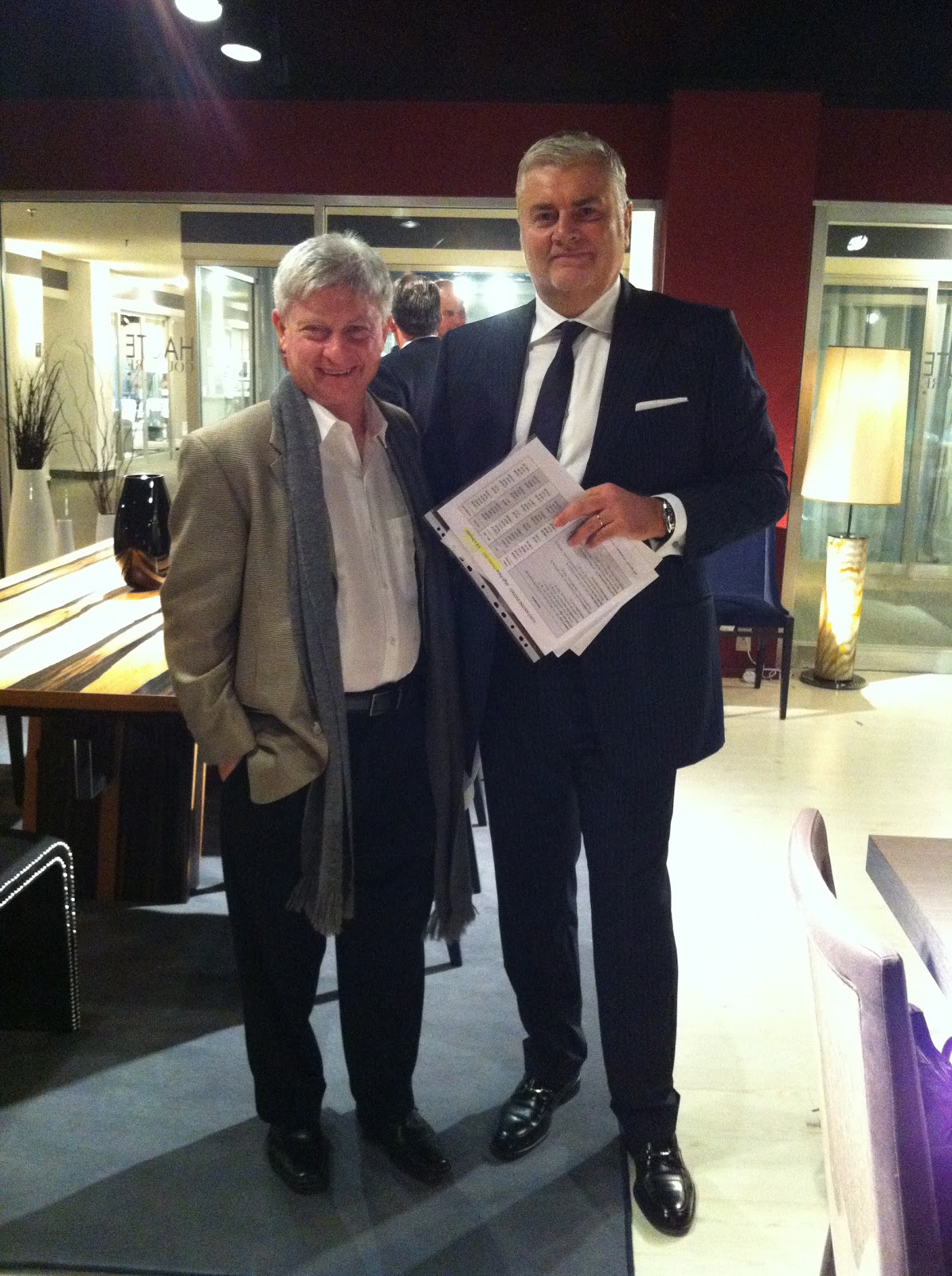 Superb Alan Wasser, CEO Of Wasseru0027s Furniture U0026 Pierpaolo Costantini Of Costantini  Pietro At Pietrou0027s Showroom