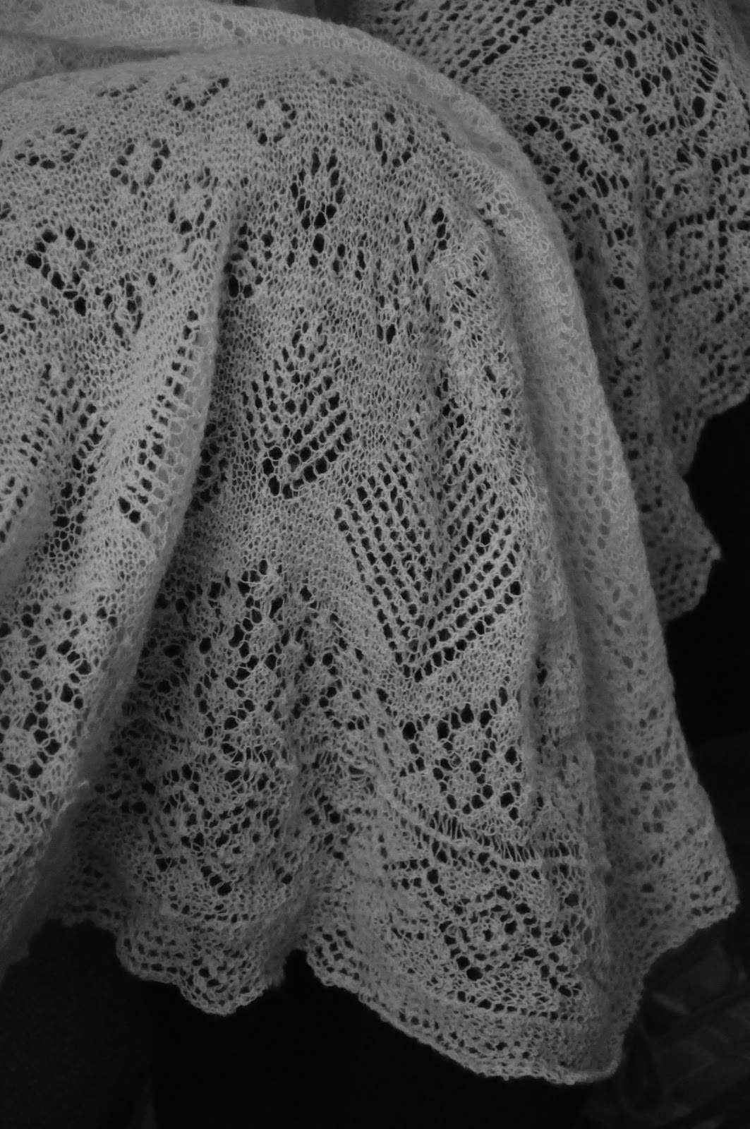 Knitting Pattern For Christening Shawl Free : Vintage Sally: Sheltland Lace Knitting heirloom Christening shawl