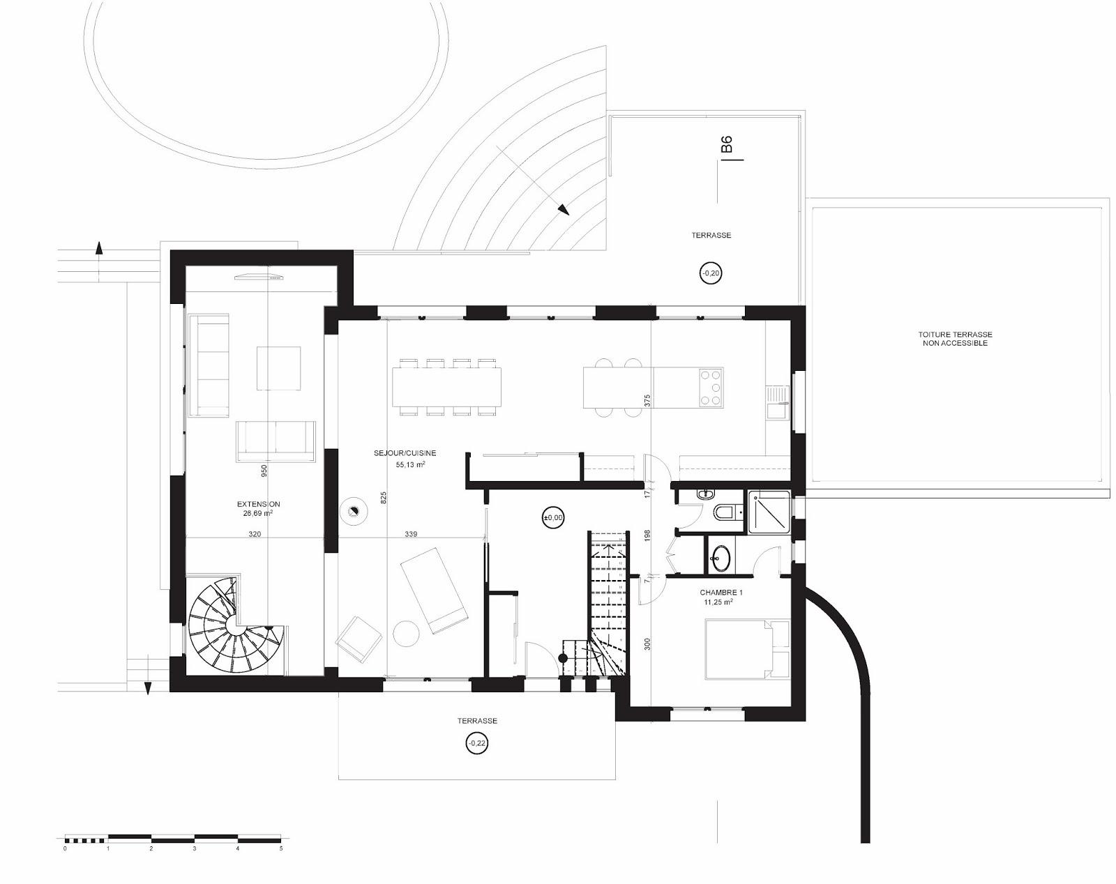 plan de masse maison individuelle