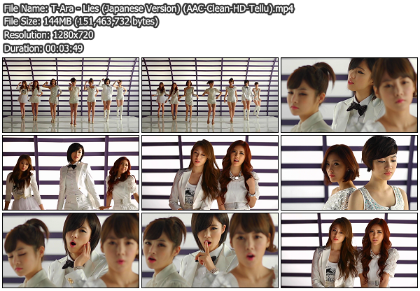 [PV] T Ara   Lies (Japanese Version) (Clean HD 720p) (x264)