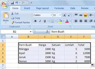 Belajar Microsoft Excel 2007